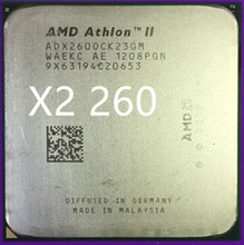 AMD Athlon II X2 260 x2 260 CPU Processor  3.2Ghz  2M  2000GHz  Socket am3 am2+  938 pin, free shipping