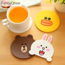 1PC Cute Cartoon Thick PVC Placemat Slip- resistance Coaster Insulated Silicone Pad Creative Home Supplies(China)