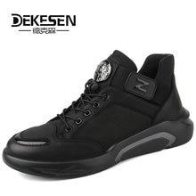 Men Sneakers Men Casual Shoes Autumn Genuine Leather Lace Flats Fashion Light Male Footwear Size 38-44 New Style Shoes Men