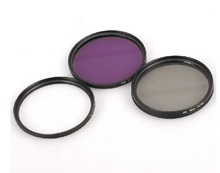 30mm UV CPL FLD Polarizing Lens Filter Kit + leather case For Camcorder Camera Lenses 30 mm