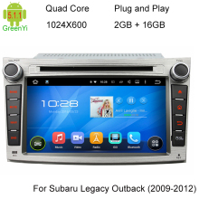ROM 16G Quad Core 1024*600 Android 5.1.1 Fit For Subaru Legacy Outback 2009 2010 2011 2012 Car DVD Player GPS TV 3G Radio