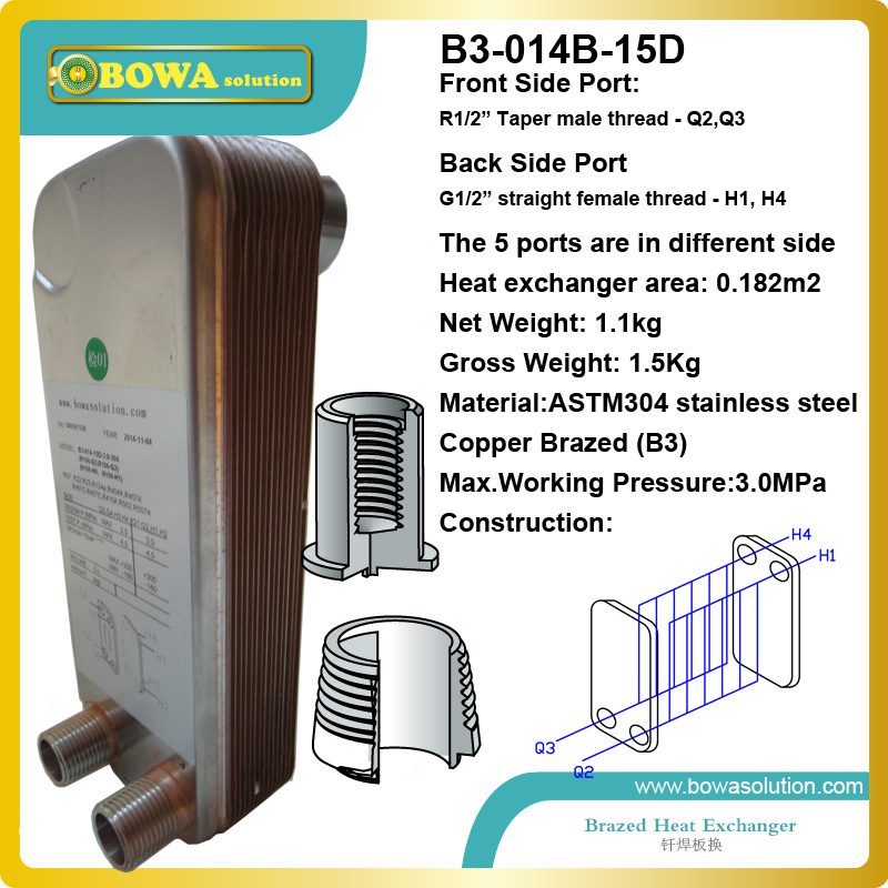 B3-014-15 Stainless Steel Plate heat exchanger  working as evaporator of chiller to cooling beer<br><br>Aliexpress