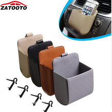 Portable Multifunction Car Cell Phone Holder Debris Card Glasses Holder Car Organizer Storage Bag Garbage Can