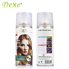 138ml Dexe Hair Coloring Dyeing Spray Disposable Temporary Instant Highlights Dye Spray Colorant DIY Hair Style