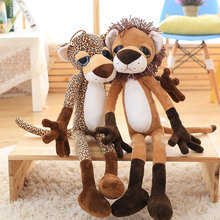 Whoelsae Lovely big eyes giraffe lion plush toys tiger leopard doll toy Christmas present Kids gift 40-80cm Large size Doll