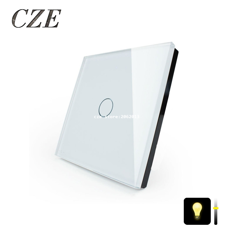 EU Standard 1 Gang Dimmer Light Touch Switch  Smart Home Automation Waterproof Switch Round Type<br><br>Aliexpress