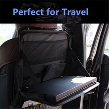 Universal Car Laptop Holder Auto Back Seat Dining Table Laptop Stand Travel Tray Organizer Vehicle Seat Pad Drink Food Holder
