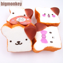 Big monkey NEW 20pcs kawaii expression sale rilakkuma squishy toast slow rising squeeze toy 10CM(China)