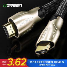 Ugreen HDMI кабель HDMI 2.0 кабель HDMI адаптер 1 м 2 м 3 м 5м 10м 15м hdmi к HDMI кабель HDMI 4 К 3D 1.4 В кабель для Apple TV Nintend Switch HD телевизор ноутбук PS3 PS4 PS4 Pro проектор ...(China)