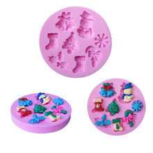 1PC 3D Candy Cake Baking Chocolate Fondant Decorating Mould DIY Ice Cube Mold Silicone forms for kitchen cooking tools