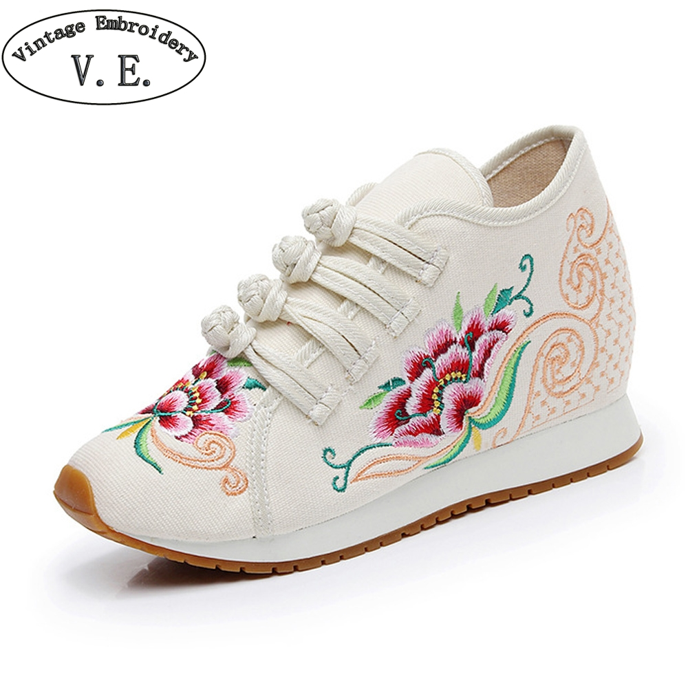 Women Buckle Strap Sneakers Chinese Old BeiJing Tourism Denim Canvas Flat Shoes Walk Travel Casual Shoes Woman Sneaker (China)