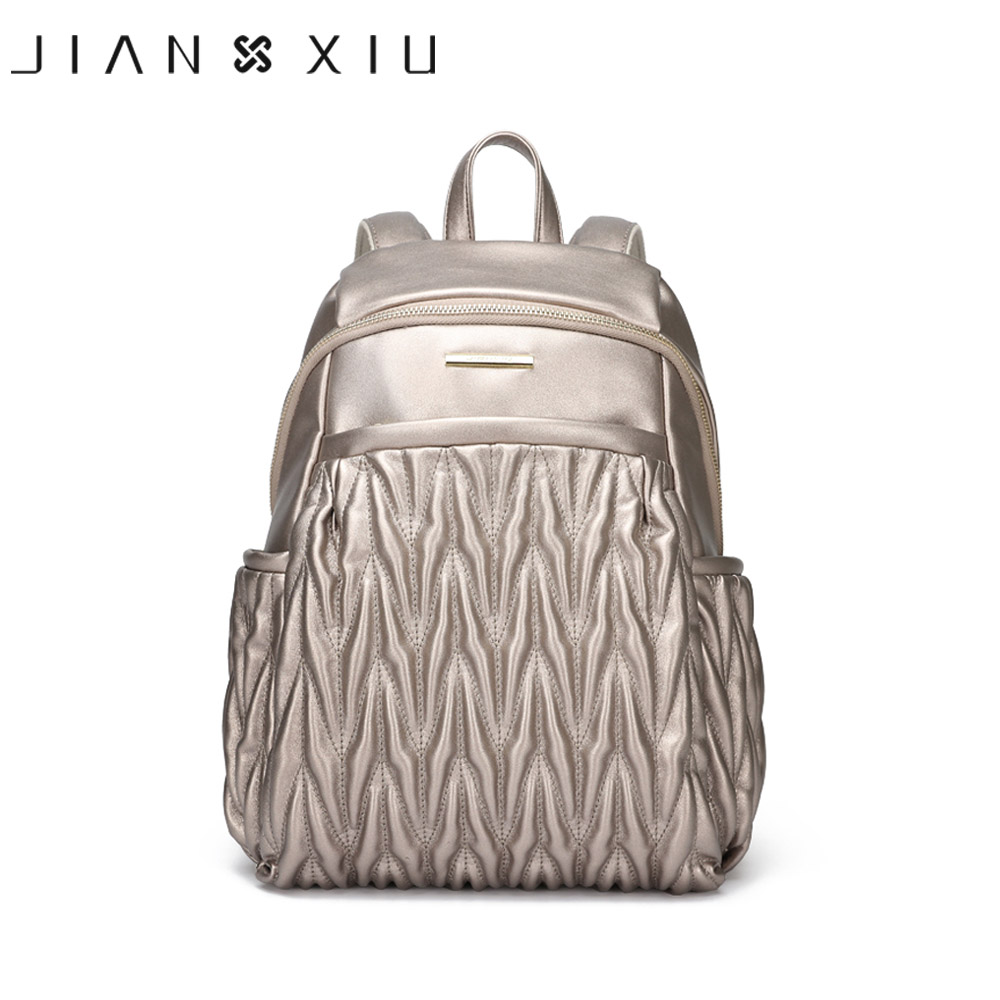 JIANXIU Women Backpack Pu Leather School Bags Mochilas Mochila Feminina Bolsas Mujer Bagpack Escolar Backpacks Fashion Back Pack<br>