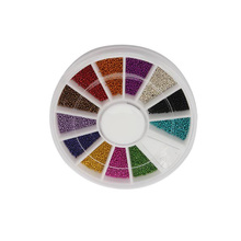 2000pcs Mix Colors Steel Ball Bead Multicolor Nail Art Acrylic Tips Decoration Wheel Manicure well YF2017