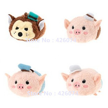 Mini Tsum Tsum Three Little Pigs And Wolf Plush Toys Kids Stuffed Smartphone Cleaner Phone Pendant Children Gifts(China)