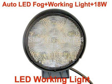 Free Shipping ! 15months warranty !Auto LED work Light+18W+High power FOG LIGHT FOR OFF ROAD 4x4 , MOTORCYCLE BOAT ATV IP68