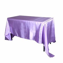 5pcs/ Pack 90 x 132 inch Rectangular Satin Tablecloth White/Black Table Cover for Wedding Party Restaurant Banquet Decorations(China)