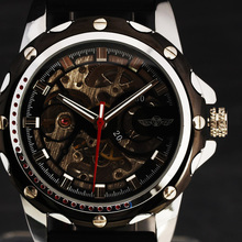 New 2017 Top Brand WINNER Casual Watches Men Automatic Movement Skeleton Clock Sport Military Mechanical Wristwatch Mens Gift