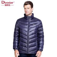 Deodar Mens Down Coat Winter Fashion Origin Design Down Coats Solid 90% White Men Ultra Light Down Feather Jacket Parkas DX4261(China)