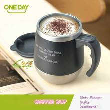 ONEDAY Coffee Mug Cute Big Belly Cup MUGS Tumbler THERMOMUG Office Stainless Steel THermocup Bottle Mugs With Lid(China)