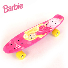 "2016 New 22""Barbie skateboards Complete Retro elektroscooter Mini Longboard Skate Fish Skateboard red board light alloy wheels"