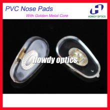 2000pcs/lot Eyeglasses PVC Nose Pads With Gold  Metal Core 14mm Screw-in Type Glasses Accessories