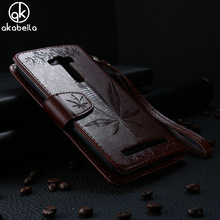 Buy AKABEILA Flip Wallet Case Asus Zenfone 2 Laser ZE550KL Phone Case Z00LD Zenfone2 Laser ZE551K Maple Leaf Leather Back Cover for $4.70 in AliExpress store