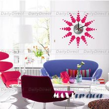 1x Wholesale Large Heart Shape DIY Home Decor Frameless Wall Clock Vinyl Sticker Design Decal10A004 MAX3 Brand Room Decors