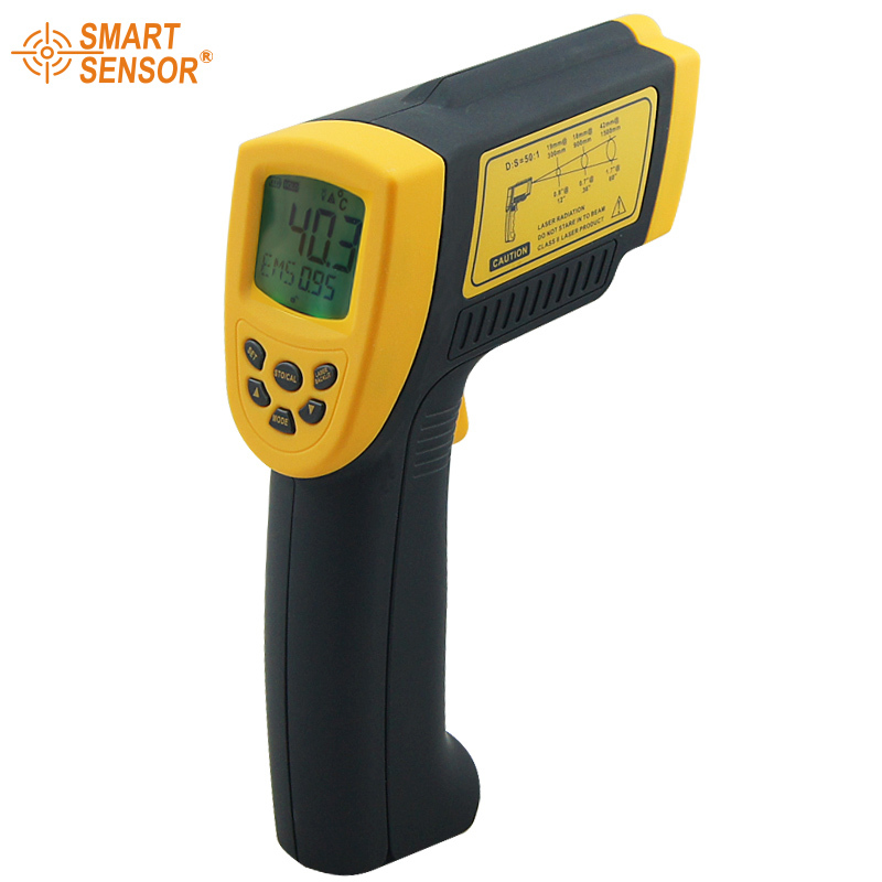 Smart sensor Digital infrared thermometer -18~1350C (-58~2282F) AR872+ IR Laser Point Gun non contact Infrared Thermometer(China (Mainland))