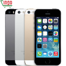 Factory Unlocked iPhone 5s 16GB/32GB/64GB ROM 8.0MP Camera 1136x640 pixel WIFI GPS Bluetooth Fingerprint Cell Phone