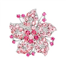 flower shape brooch crystal brooch jewelry gift for Valentine's Day Accessories costume brooches 2017 new