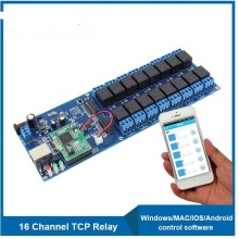 Free Shipping Ethernet Network 16 Relay Board 16 Channel Remote Relay Switch controller CE/FCC/RoHS/ISO9001
