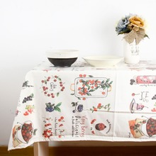 2017 New Arrival Tablecloth for Dinner High Quality Cotton Cloth Korean Popular Style Decorative Country floral Table Cloth