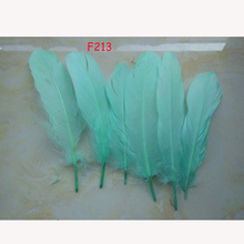 500pcs/lot!15-20cm long light blue Goose Feathers,Hat Trimming,Feathers for Millinery,Fascinators&Crafts(China)