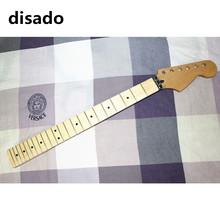 disado 22 Frets maple Electric Guitar Neck maple fretboard inlay dots wood color guitar parts accessories can be customized