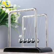 Newton's Cradle Balance Steel Balls Early Fun Development Teaching Physics Science Pendulum Desk Toy Gifts For Kids NC-G-ABS-S