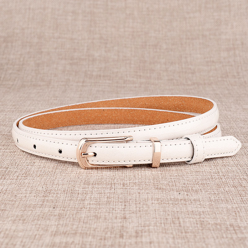 17 New Girls Black White Blue Yellow Brown PU Waist Belt Female Fashion Womens Leather Waistband Belts for Jeans Wholesale 2