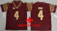 2017  BAICLOTHING Florida State Seminoles  Cook 4 College Football Jersey - Red Size S,M,L,XL