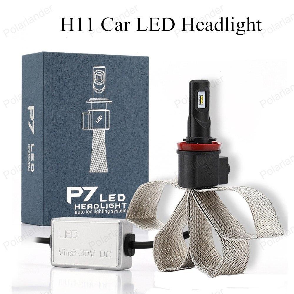 P7 H11 Car Led Headlight kit Fog Light High Power Auto High Low 30W X2 White 6000K Bi xenon Headlamp with Fan and Driver<br><br>Aliexpress