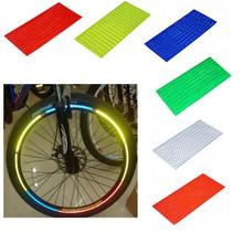 Fluorescent MTB Bike Bicycle Cycling Motorcycle Wheel Tire Tyre Reflective Stickers Strip Decal Tape Safety Silver(China)