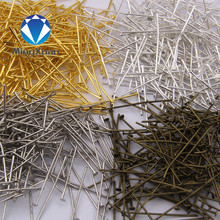 18-40mm (21 gauge) 200pcs/bag jewelry findings flat head Pins DIY for earring,bracelet and necklaces 6colors(China)