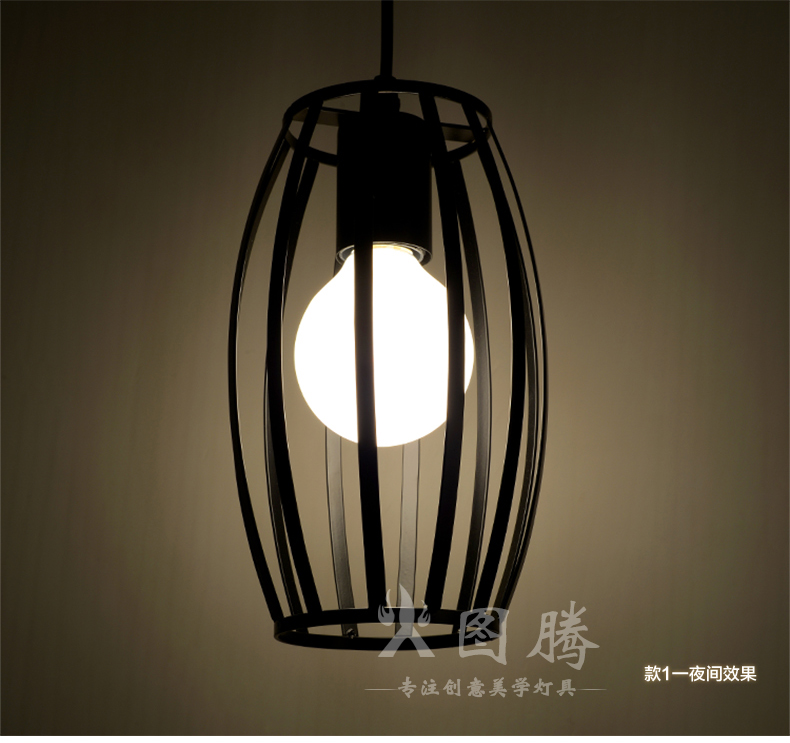 Vintage retro pendant lights LED lamp metal cube cage lampshade lighting hanging light fixture with LED G80 bulb<br><br>Aliexpress