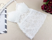 2017 New Sexy Women Lace Crochet Bralette Bralet Bra Bustier Crop Top Floral Cami Padded Tank Tops(China)
