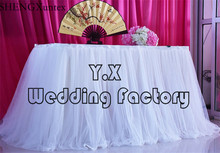 1 Layer Ice Silk With 2 Layer Tutu Table Skirt For Wedding Table Cloth Decoration(China)