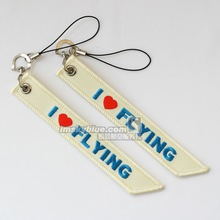 "Pilot Beige Luggage bag Tag with "" I love flying"" Best Gift for Pilot Aviation Lover Flight Crew Ariman(China)"