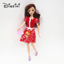 2017 Princess Dresses For Barbie Outfit Handmade Fashion Short Dress For Barbie Doll Dress Baby Girl For barbie doll accessories(China)