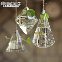 Hanging Glass Vase Geometric DIY Planting Hydroponic Plant Flower Container Home Garden Decor Terrarium Home Party Decoration(China)
