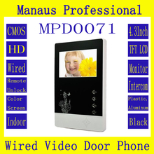 D71b Hot Selling Professional Smart Home 4.3 inch Touch Screen Video Intercom Phone,New Indoor Monitor Video Doorphone Door Bell