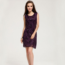 Europe high quality fashion dresses women designers purple formal dress buy LM6022(China)