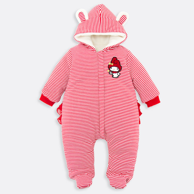 New Winter Baby Rompers clothes long sleeve Warm coveralls for newborns Boy Girl Colar Fleece baby Clothing coral velvet Romper<br>