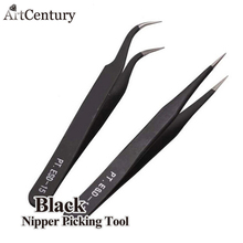 Hot Promotion 2 Black Acrylic Gel Nail Art Rhinestones Paillette Nipper Picking Tool